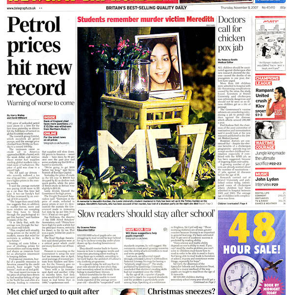 20071108 Daily Telegraph p1_950px by .