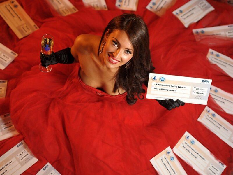 Miss York Anastasia Smith promotes EuroMillions by Jonathan Pow.