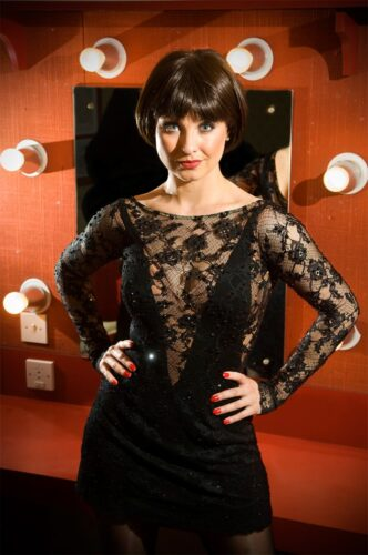 Emma Barton playing lead role of Roxie Hart in Chicago at Bradford Alhambra