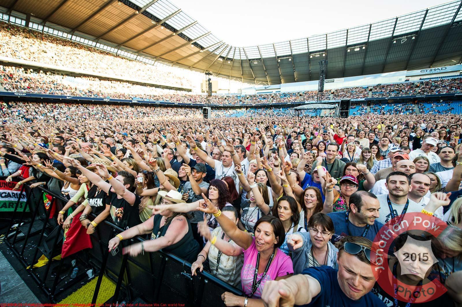 Manchester - Bon Jovi first UK date of Because We Can world tour