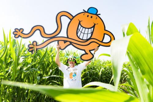 2107 York Maze celebrate 50th anniversary of Mr. Men & Little Miss in maize
