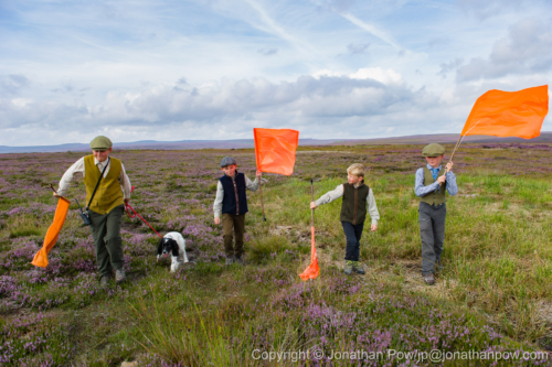 2108 Lads working on the moors